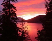Forks Lake Crescent Sunset