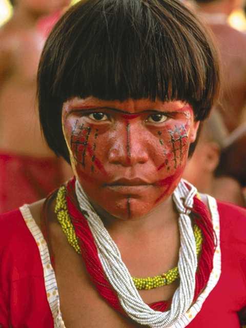 Dibujo colorear Indios