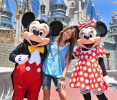 "Disney Channel star Miley Cyrus spent some time in the Walt Disney World theme parks today (May 1, 2008).  She is at Walt Disney World to perform in the ""Disney Channel Games"" concert Saturday night, May 3.