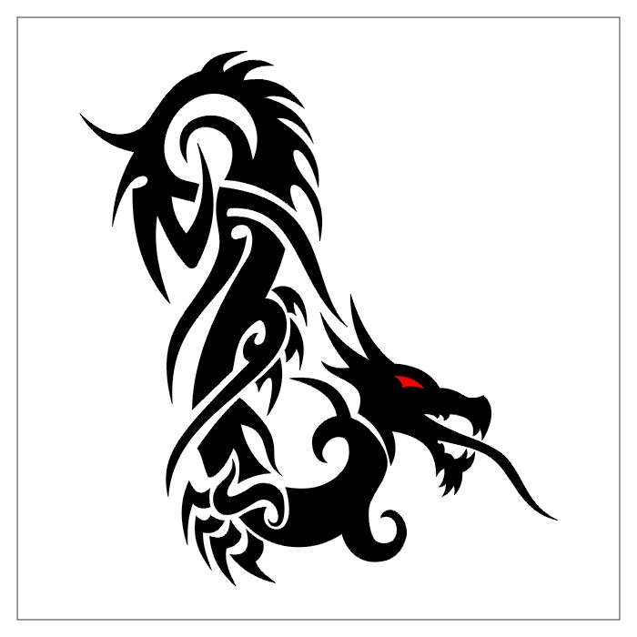 Free Tribal Dragon Tattoo Designs