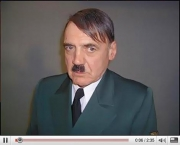 Look who's making a big splash on YouTube. Actor Bruno Ganz in his role as Hitler in <i>The Downfall</i>.