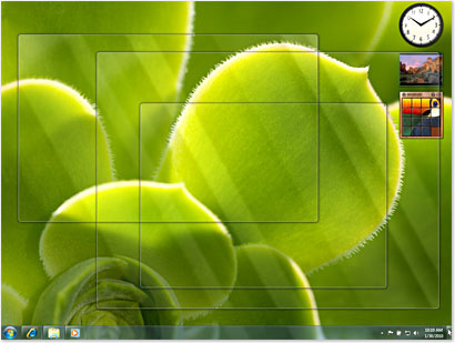 Windows 7 - Aero Peek