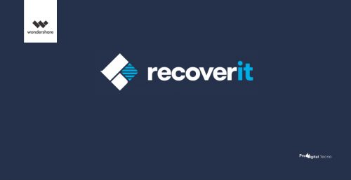 Logotipo do Software Recoverit da Wondershare